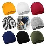 DRESHOW 8 PCS Bebé Beanie Sombrero Recién Nacidos Niño Pequeño Sombrero para Bebés Niños Gorros