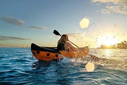 Bestway 8321401 Flotador Kayak Semirigido 330 x 94 cm. 2 Personas MAX. 160 Kg. con Remos, Unisex-Adult, Multicolor, One… 1