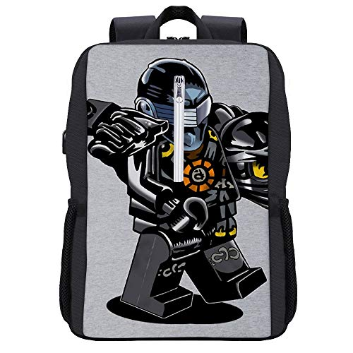 G I Joe Ninjago Cole Backpack Daypack Bookbag Laptop School Bag with USB Charging Port
