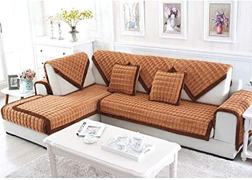 Cubierta del sofá, funda de sofá de felpa, tapa de sofá espesante para perros PET Muebles antideslizantes Protector de muebles cubiertas de sofá Cubierta de sofá para sofá de cuero Sofá de sofá en for