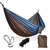 キャンプハンモック、バックパッキング、旅行、ビーチ、裏庭、パティオ、ハイキング、ポータブルハンモック、キャンプアクセサリー、最大300 KGまで保持