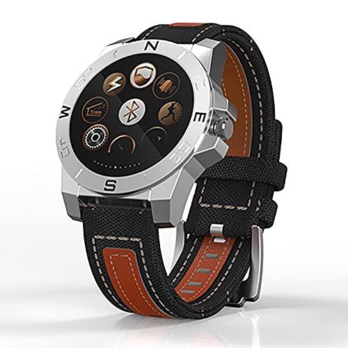 ASLD Reloj Deportivo, Relojes para Hombres, Reloj Inteligente multifunción más Popular, Reloj de Pulsera de Camping, Reloj, Relojes clásicos Silver Gray