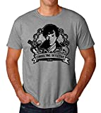 KRISSY Sherlock Holmes Consulting Detective Men's T-Shirt Hombre Camiseta Large
