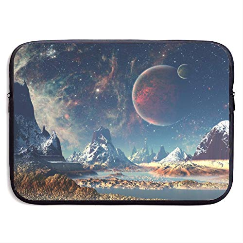 Laptop Sleeve Case Planet Earth Moon Mountains Notebook Bag Laptop Shoulder Bag Protective 15 Inch