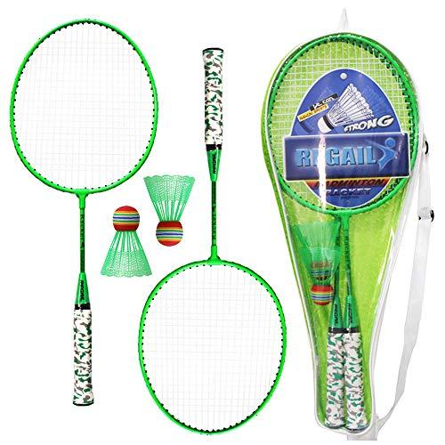 Lixada 1 Pair Badminton Rackets with Balls 2 Player Badminton Set for Children Indoor Outdoor Sport Game