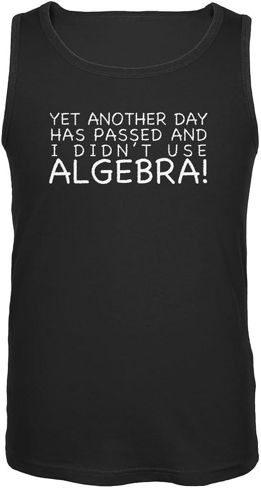 Old Glory Didn't Use Algebra Today Black Adult Tank Top