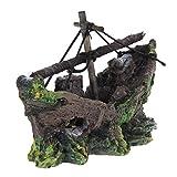 TOOGOO(R) Ornamento Acuario Barco de Pesca del Ornamento del Acuario Decoracion para Fish Tank, 100% Sguro para la Dcoracion de Tanque de Pez