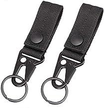 Nylon Webbing Buckle Strap Clip Hanging Buckle Belt Key Ring Holder BESLIME Tactical Hanging Belt Carabiner Clip 2PCS Backpack Tape Keychain Molle Strap Hanging Snap Hook