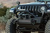 Go Rhino 331101T Rockline Winch & LED Ready Front Stubby Bumper with Over rider Light Moun...
