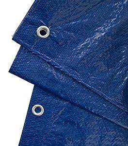 GardenMate 2 x 3 m 90 g/m2 Lona de protección Universal azul/verde | Funda protectora | Lona impermeable