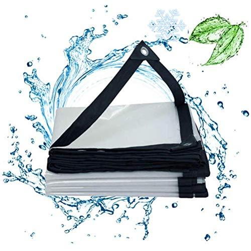 SACYSAC Regendichte doek voor ramen, regendichte doek voor balkon, buitenzwembad, transparant waterdicht en regenbestendig dekzeil, 0,12 mm
