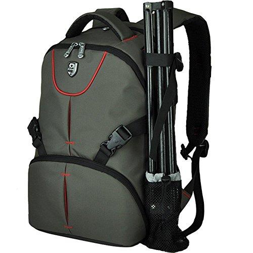 BAIGIO Zaino Multifunzianle per Fotocamera SLR Accessori Backpack Porta 16'' Laptop da Uomo e Donna Stile Business e Leisure, Verde Scuro