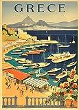 Vintage Travel Griechenland für Athen und Baie de Castella