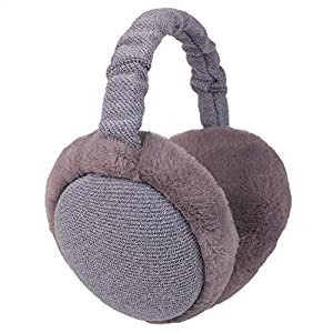 Flammi Unisex Winter Earmuffs Adjustable Faux Furry Foldable Ear Warmers Outdoor for Women Men