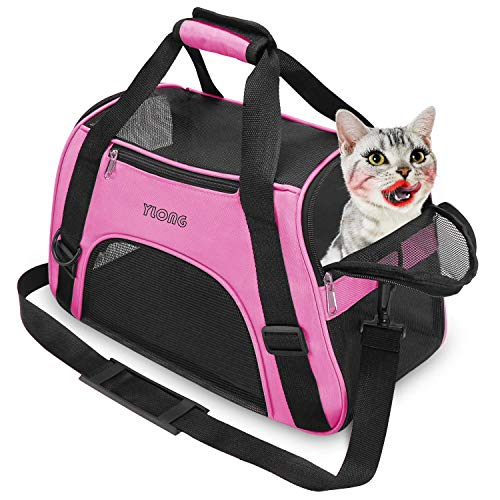 YLONG Cat Carrier Airline Approved Pet Carrier,Soft-Sided Pet Travel Carrier for Cats Dogs Puppy Comfort Portable…