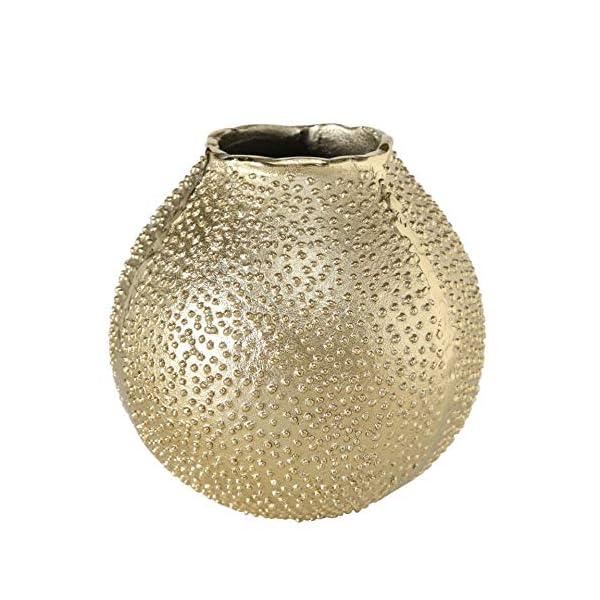 CasaJame-Maison-Dcoration-Complements-Accessoires-Ornement-Design-Boule-Vase–Fleur-en-Mtal-avec-Forme-dOursin-de-Mer-Style-Moderne-Mtal-Dor–18-cm