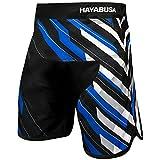 Hayabusa Metaru Charged Brazilian Jiu Jitsu and MMA Shorts (Black/Blue, 32)