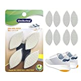Unikstep 4 Pairs Shoe Heel Repair Plates Taps, Sneaker Heel Single Side Worn Rubber Patch, Replacement Kit with Sandpapers, Left and Right Side Anti Slip Design (White)