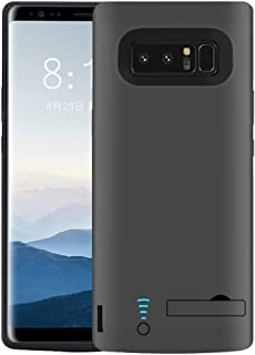 RUNSY Samsung Galaxy Note 8 Battery Case, 6500mAh Rechargeable Battery Charging/Charger Case with S-Pen Hole, Adds 1.4X Extra Juice, Charges 2 Devices Simultaneously (6.3 inch for Note 8)