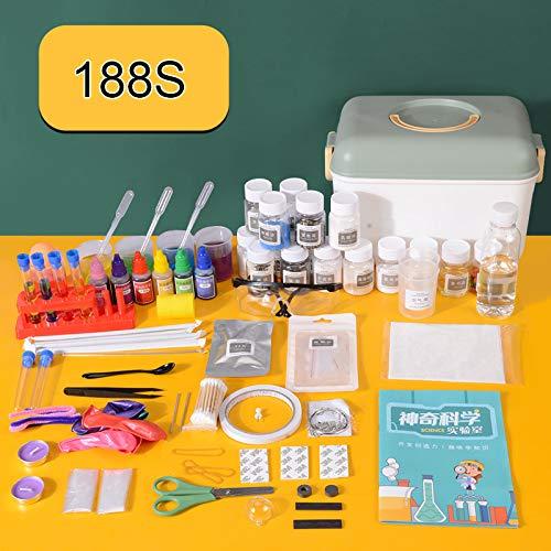 laoonl Kit de ciencia para niños, juego de experimentos de ciencia con gafas de protección y caja de almacenamiento, horas de diversión.