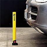 urban UR630 Barrera Aparcamiento Abatible Poste Parking Plegable, Universal, 62cm, Amarillo y Negro