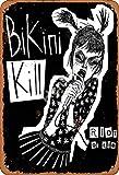 None Branded Bikini Kill riot or die Metall Blechschild