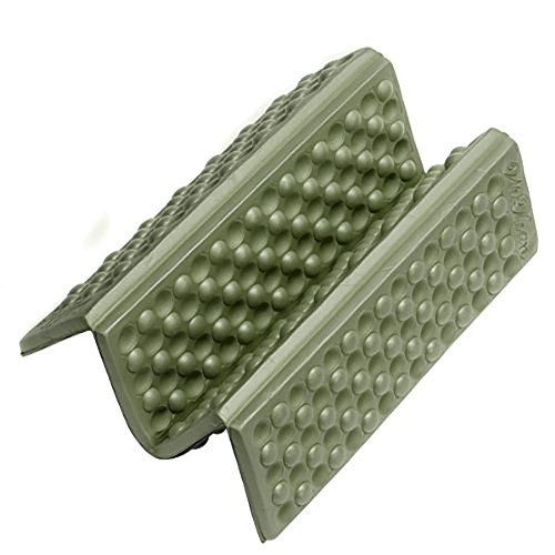 Ndier Esterilla para sentarse plegable, de espuma para camping, picnics, cojín de asiento a prueba de humedad, color verde