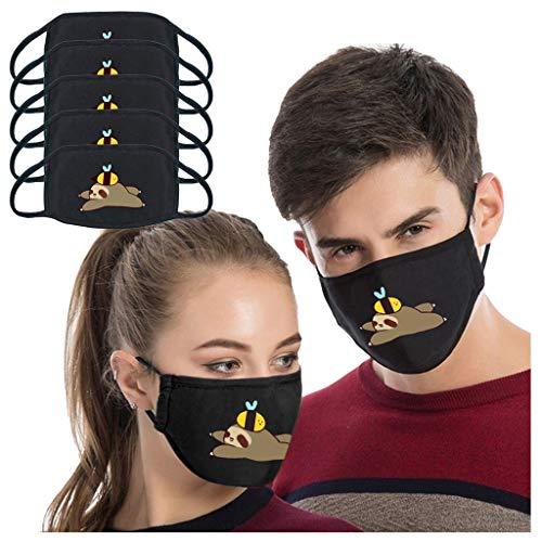 ZHX 5 Stück Atmungsaktive Mundmasken Schutztuch Gesichtsschutz Schutzhülle Outdoor Schutztuch staubdicht Winddicht Mund Schal für die persönliche Gesundheit Einstellbar Sportmaske (H)