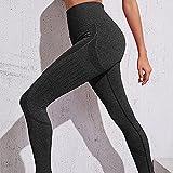 Leggings Mujer, no transparenta,Pantalones de Yoga de Cadera de Miel Sexy, Pantalones de chándal Secos de Alta Velocidad de Cintura-Negro_S,Fitness Bailan Deportivo para Mujeres Pantalones