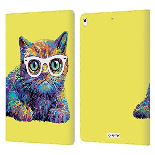 Head Case Designs Licenciado Oficialmente P.D. Moreno Gatito 7 Gatos Carcasa de Cuero Tipo Libro Compatible con Apple iPad Air (2019)