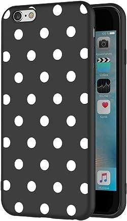 e9fd934543b ZhuoFan Funda iPhone 6s Plus, iPhone 6 Plus Cárcasa Silicona Ultrafina  Negra con Dibujos Diseño