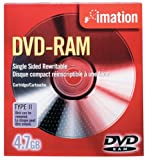 Imation IMN41529 DVD-RAM, 4.7 GB, Single Sided Rewritable (Discontinued by Manufacturer)...
