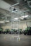 Aluminium-Rollgerüst con Fahrbalken, Plataformas en el 2m-Abstand-154746