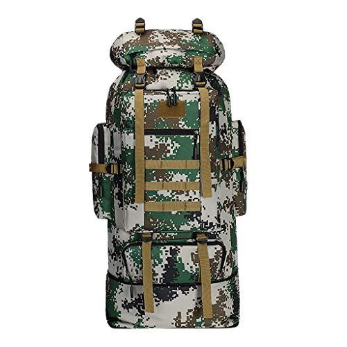 Calvinbi Kampfrucksack Tarnrucksack Backpacker Rucksack 100l 90+16L Erwachsene Wanderrucksäcke Trekkingrucksäck Reiserucksäck mit Regenhülle Backpacking Wanderrucksack