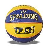 Spalding Unisex Adult 83735Z_6 - Balón de Baloncesto, Color Amarillo, Azul, 6