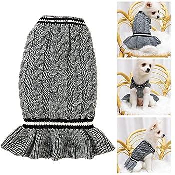 Pull Chien, Chaud Hiver Tricot Pull pour Pet Chien Chat Jumper Chiot à col roulé Manteau Tricots Petite Taille Vêtements Veste