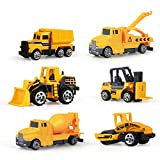 yywl Vehículos de Construcción 6pcs/ Set Mini Diecasts vehículo de construcción de aleación de Coches Ingeniería Car Dump Truck Artificial Modelo Juguetes para niños niños