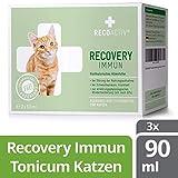 RECOACTIV® Recovery Immun für Katzen 3 x 90 ml - Hochkalorisches Diät Alleinfuttermittel, in der Rekonvaleszenz und nach OPs, für...