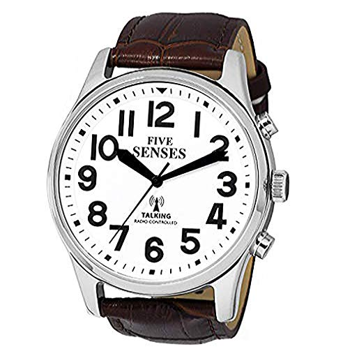 English Atomic Jumbo Size (43mm /1.75in) Talking Watch with Loud Alarm Clock for Visually impaired, Elderly or Blind by 5 Senses :1524