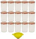 Viva Haushaltswaren - 15 x großes Marmeladenglas / Einmachglas 440 ml mit Deckel, Twist-off Gläser...