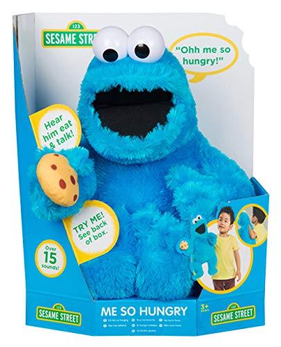 Sesame Street me Parle Un Biscuit affamé, Un Jouet de marionnette en Peluche Doux (Monstre Anglais)