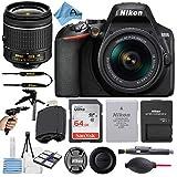 Nikon D3500 24.2MP DSLR Digital Camera with NIKKOR 18-55mm VR Lens + SanDisk 64GB Memory Card + Hi-Speed USB Card Reader + Tripod + A-Cell Accessory Bundle