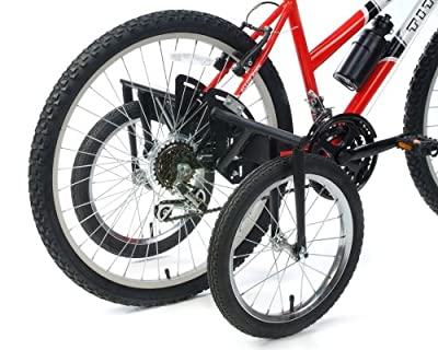 """TITAN Bike USA Heavy-Duty Stabilizer Wheels for Adult Bicycles, The Original Training Aid for Full Size Bikes with a 24"""" to 27"""" Inch Wheel, Supports Over 250 LBS, Patented Design"""
