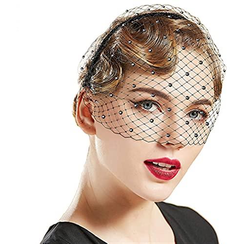 Coiffes de Mariée Bridal Voile Crystal Crystal Mariage Hair Accessoires Modèle photo Accessoires de Mariée (Color : Black)
