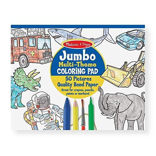 Melissa & Doug Jumbo Coloring Pad Blue