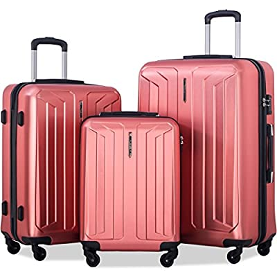 Flieks 3 Piece Luggage Set Eco-friendly Spinner Suitcase with TSA Lock