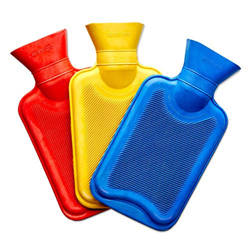 Medipaq Bolsa de Agua Caliente en Miniatura – Bolsa Agua Caliente - Pack de 3 – Una bolsa de agua de cada color – Pack de 3x Bolsas de Agua Caliente para Cama