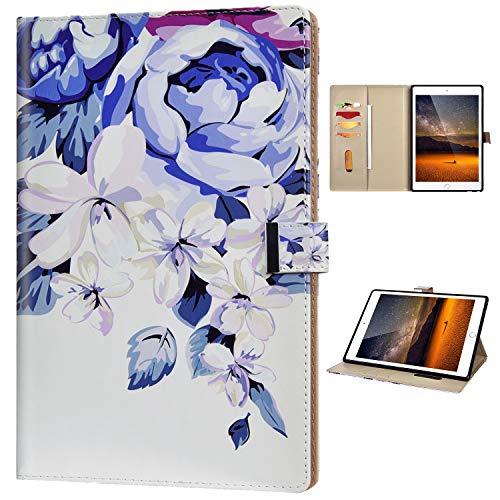 Coque Compatible avec Amazon Kindle Paperwhite 1/2/3/4 Boîtier pour Tablette PC Cuir Flip Portefeuille Étui Motif Elégant Case Magnetique Fonction Support Housse Protection Antichoc,Fleur Pourpre