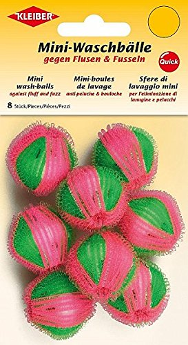 Kleiber Mini Boules de Lavage, Vert/Rose