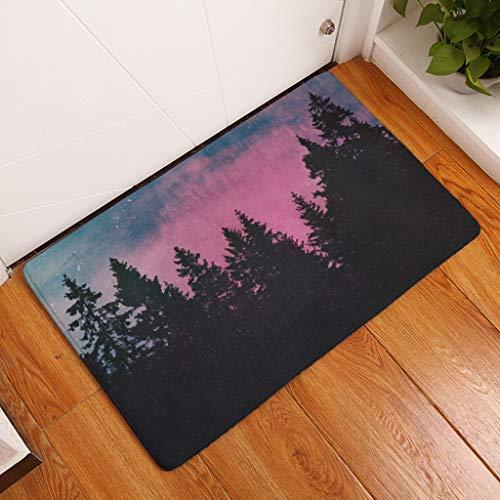 HSXQQ Modern Style Forest Scenery Print Tapijten Anti slip Vloermat Outdoor Tapijten Mode Voordeur Matten